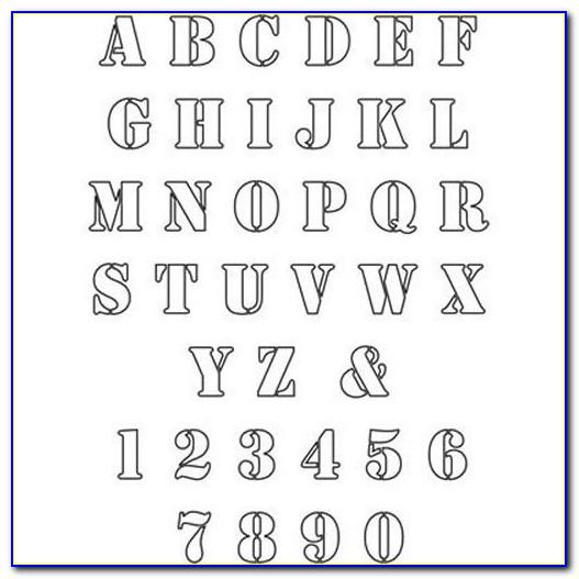 Printable Letter Stencils Pdf