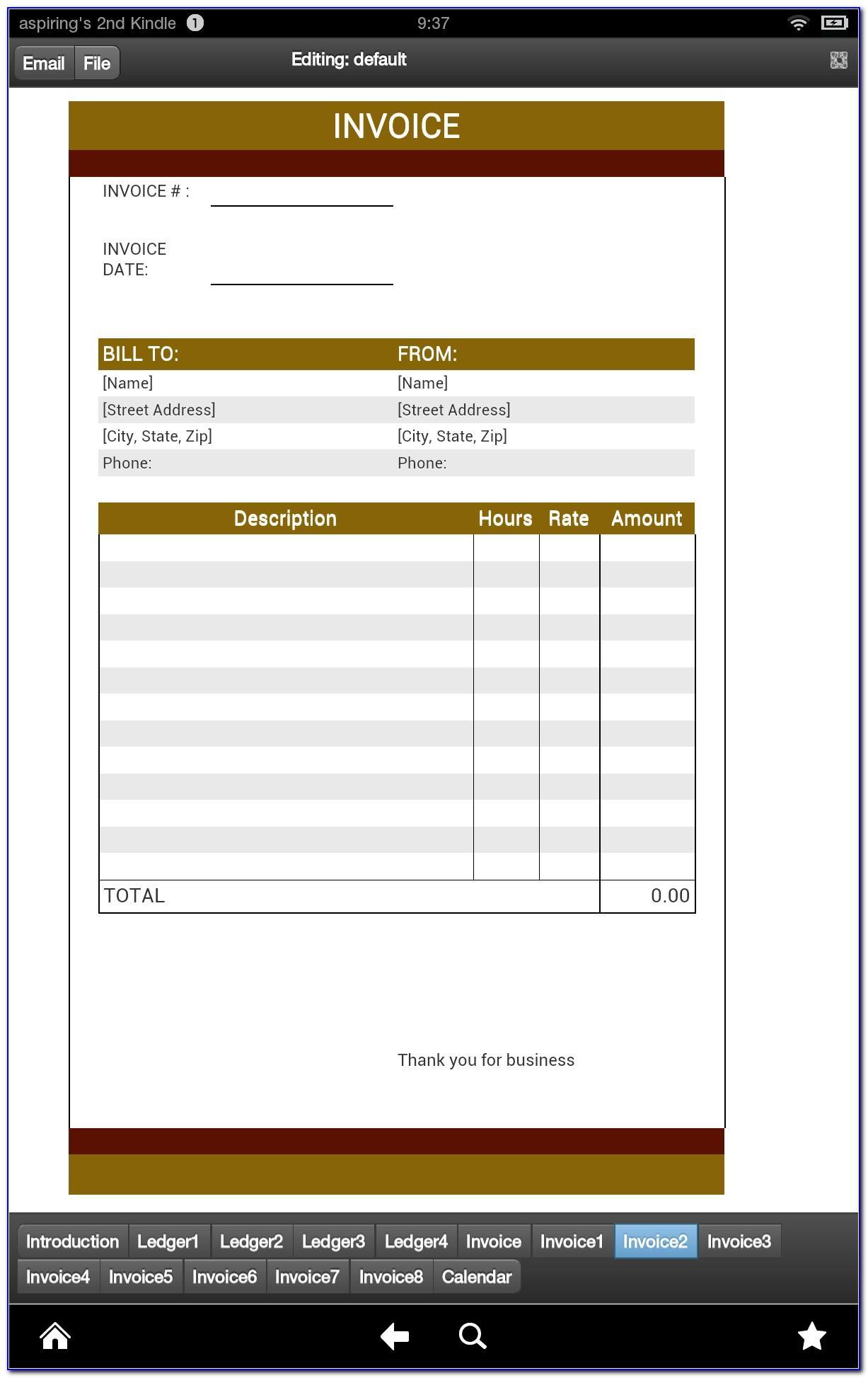 Private Caregiver Invoice