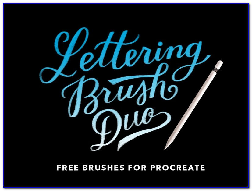 Procreate Lettering Brushes Free Download