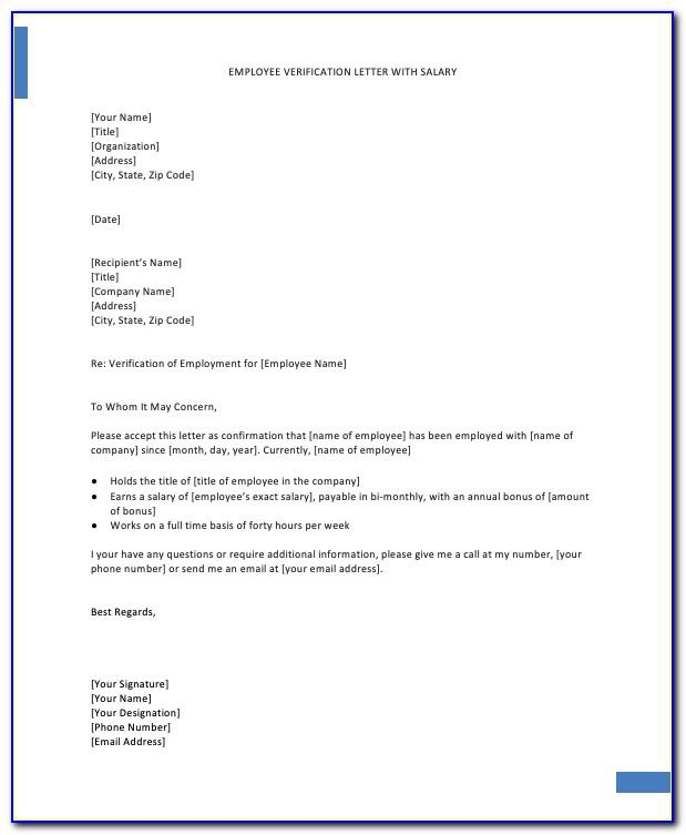 Proof Of Employment Letter Template For Schengen Visa