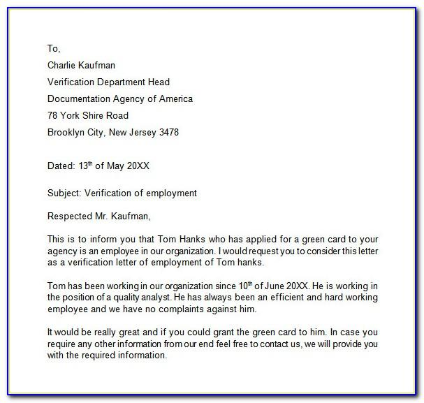 Proof Of Employment Letter Template Uk