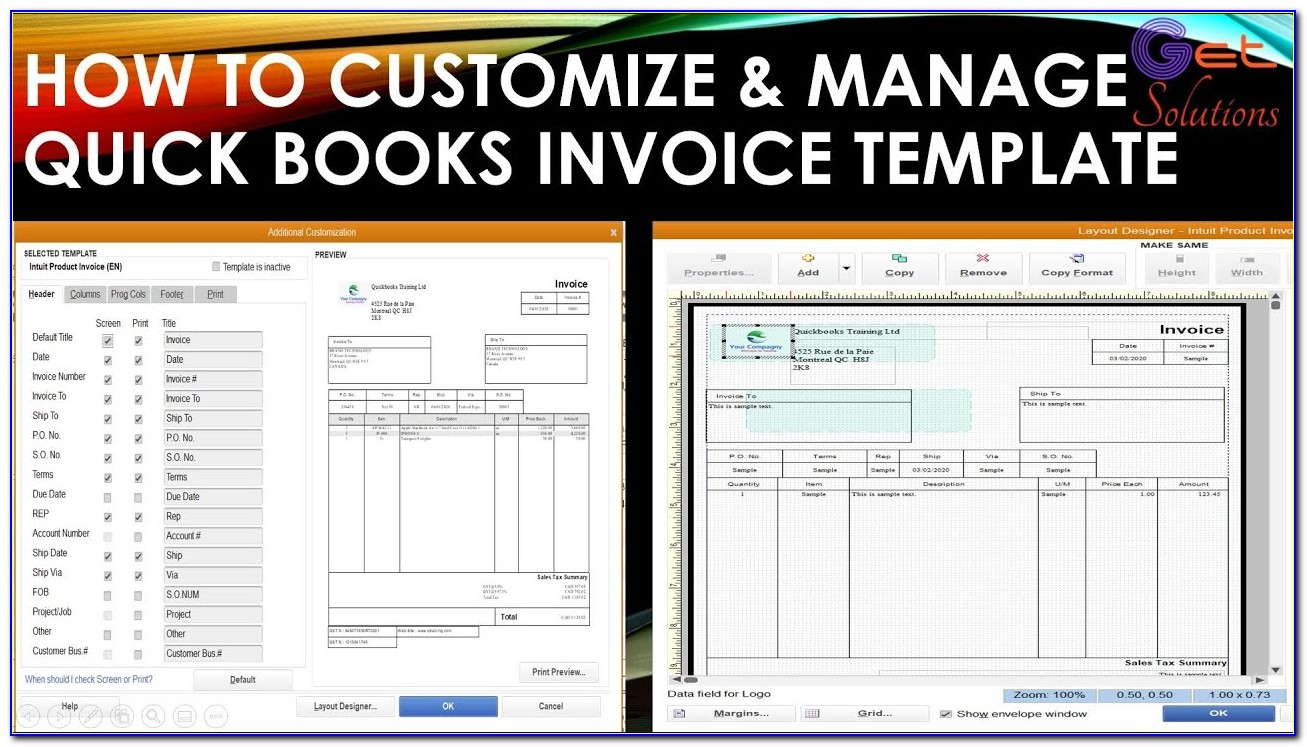 Quickbooks 2016 Edit Invoice Template