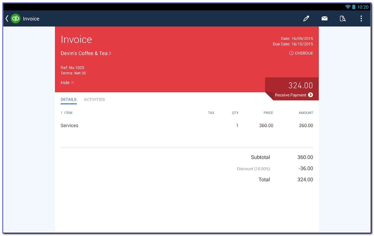 Quickbooks Invoice Apple Pay