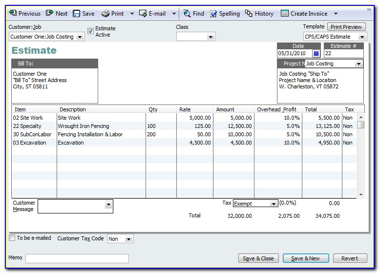 Quickbooks Online Estimates And Invoices