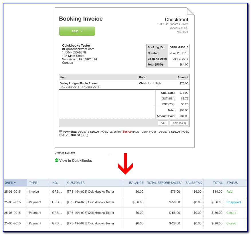 Quickbooks Undo Void Invoice