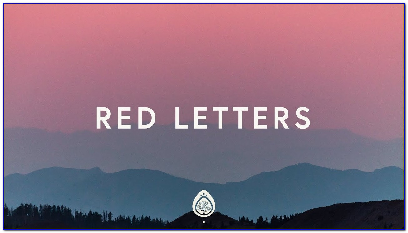 Red Letters By Crowder With Lyrics