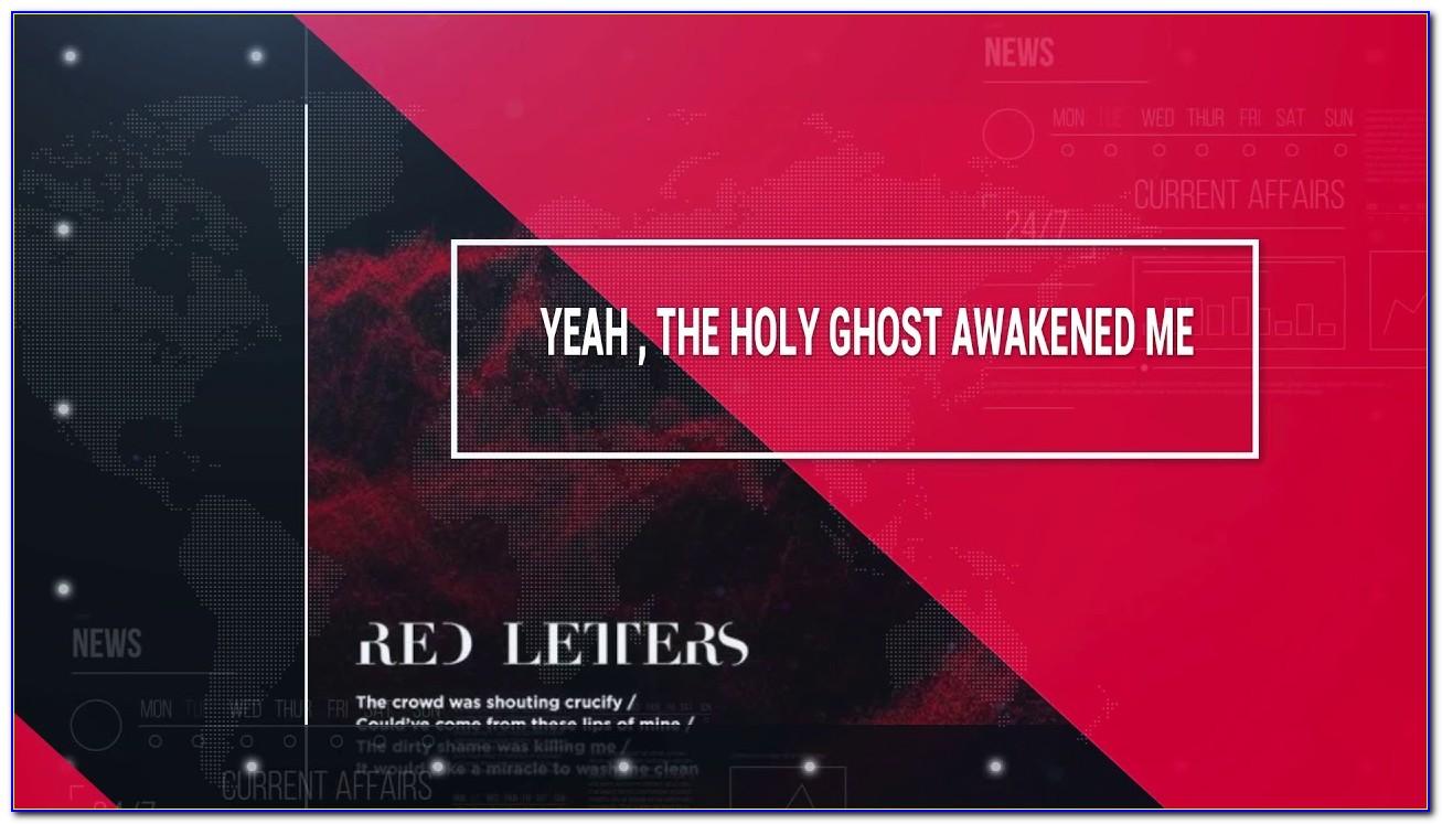 Red Letters Crowder Karaoke