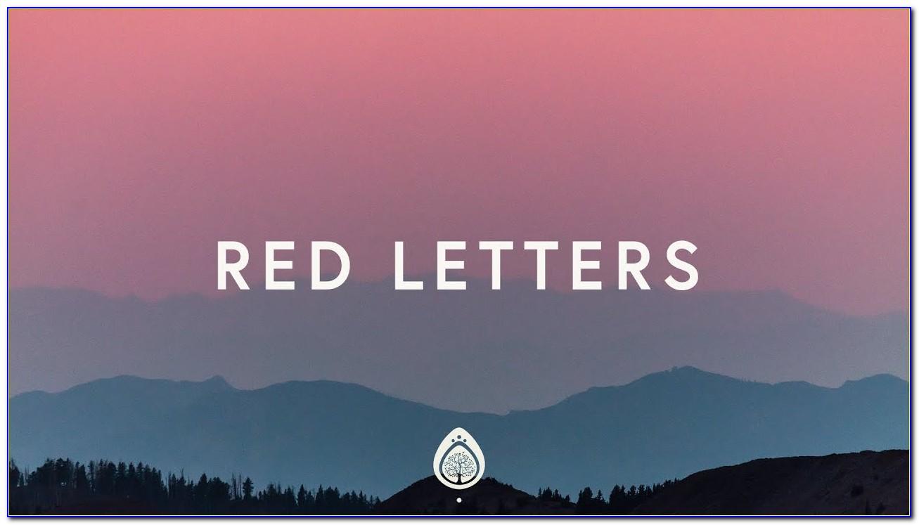 Red Letters Crowder Lyrics