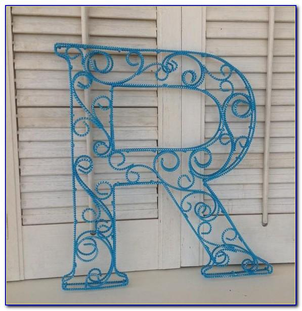 Red Metal Letters Decorative