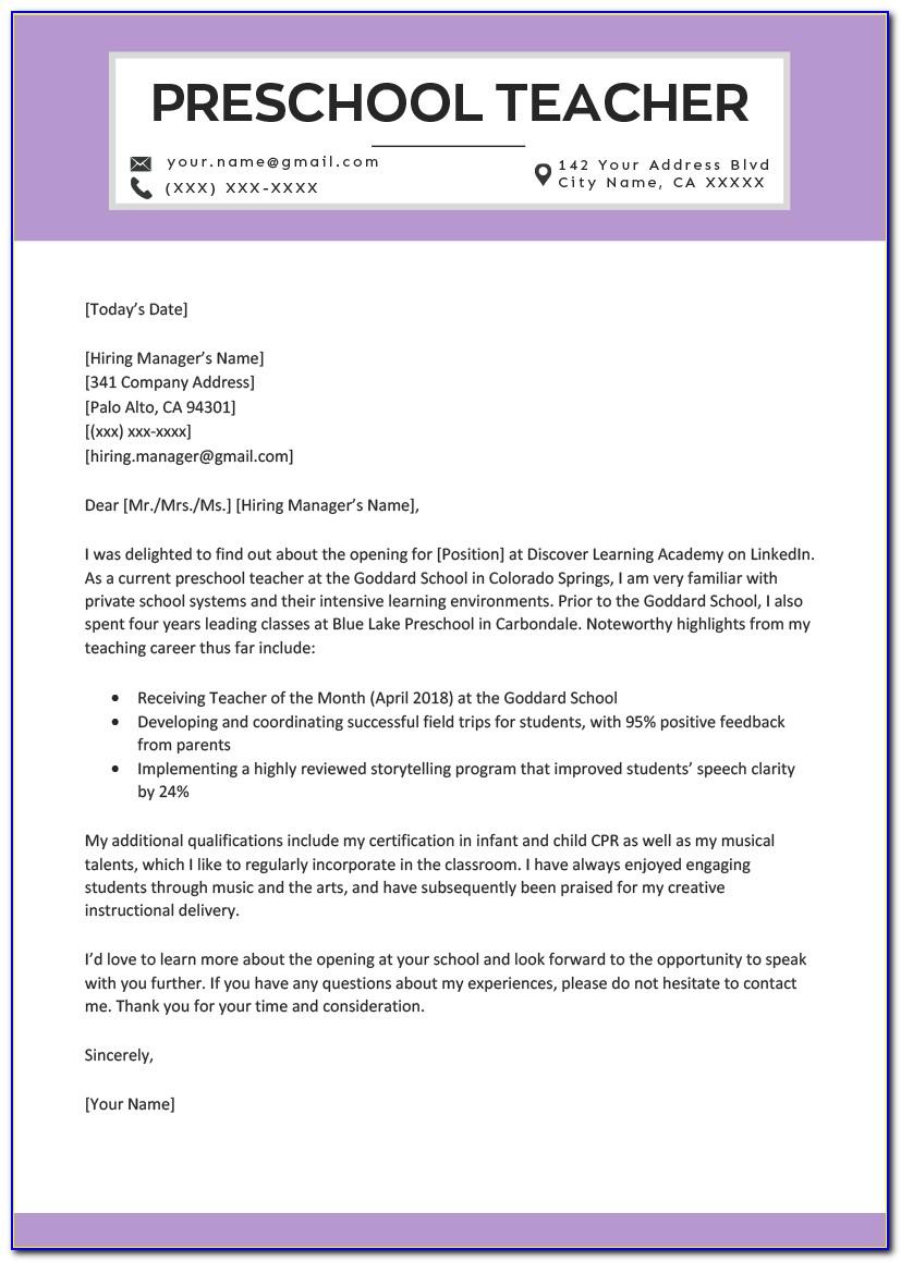 Resume Genius Cover Letter Nursing
