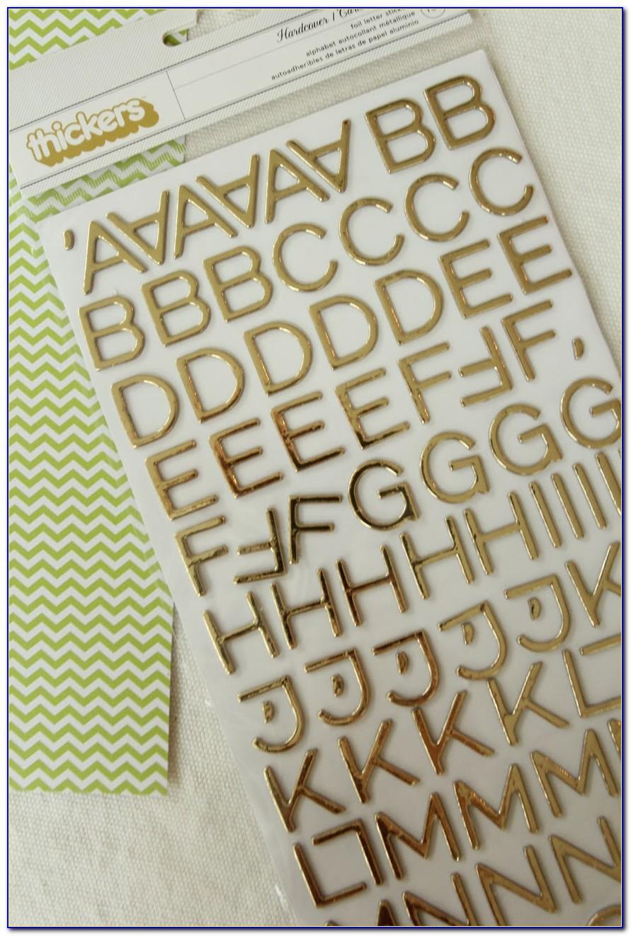 Rhinestone Letter Stickers Hobby Lobby