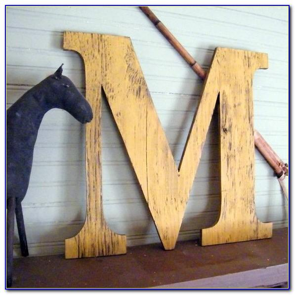 Rustic Letter M Wall Decor