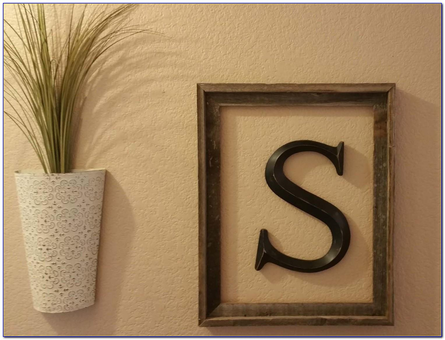 Rustic Letters Wall Decor