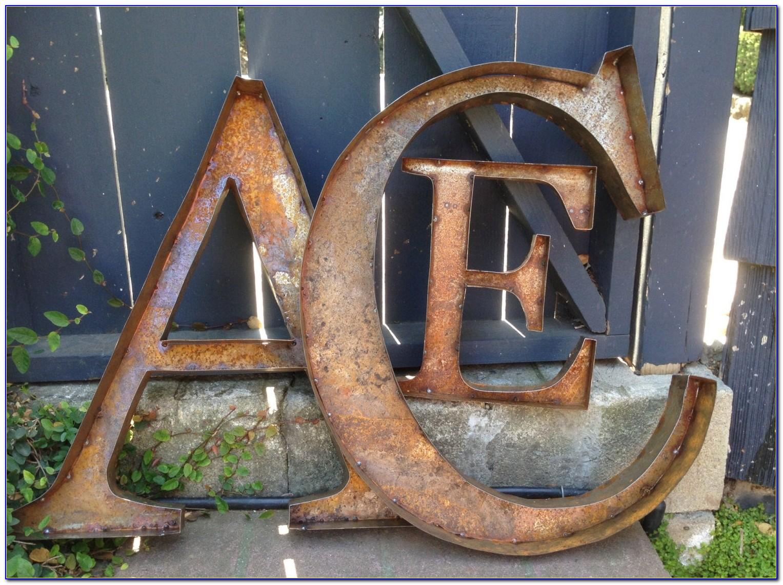 Rustic Metal Letters Australia