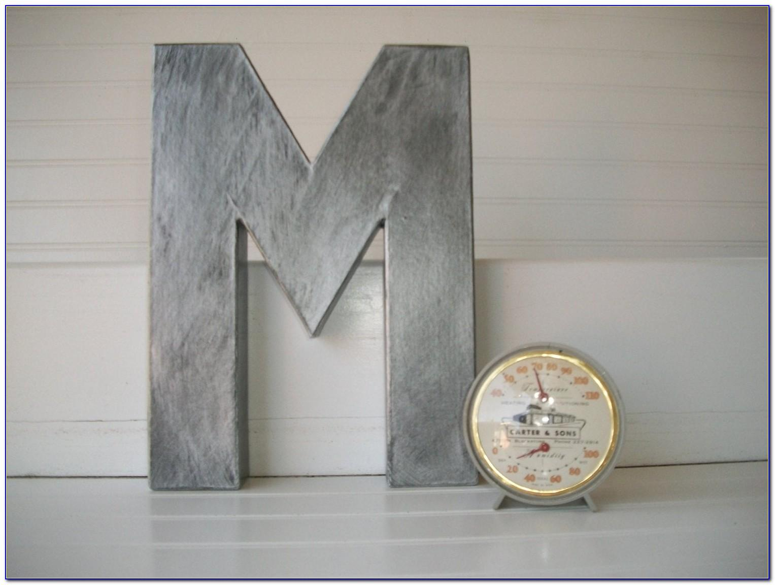 Rustic Metal Letters For Sale
