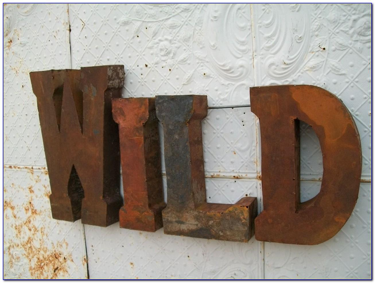 Rustic Metal Letters For Wall