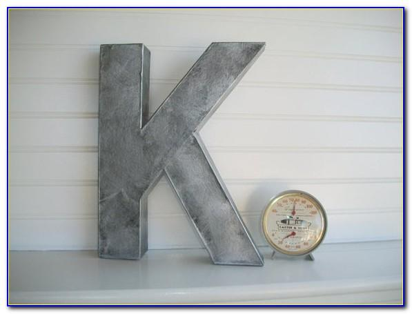 Rustic Metal Letters Uk