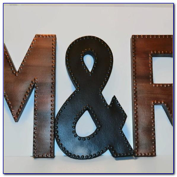 Rustic Metal Letters Wholesale
