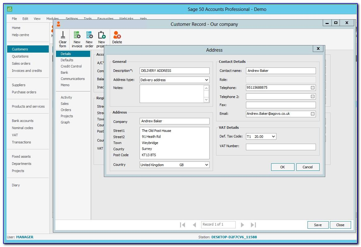 Sage 50 Accounts Invoicing