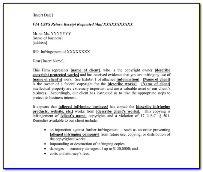 Sample Cease And Desist Letter Defamation Canada