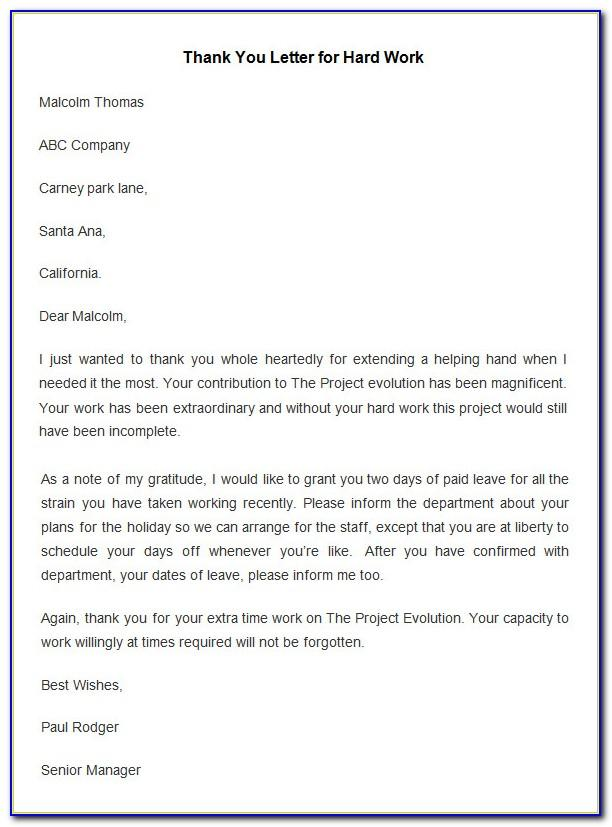 Sample Employee Anniversary Recognition Letter