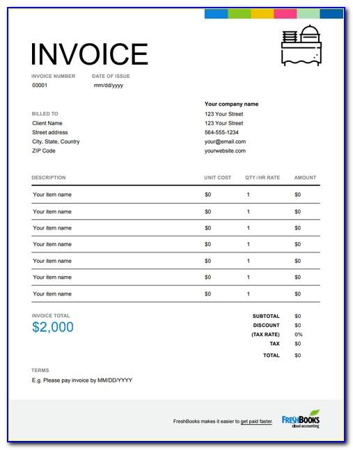 Sample Lawn Care Invoice