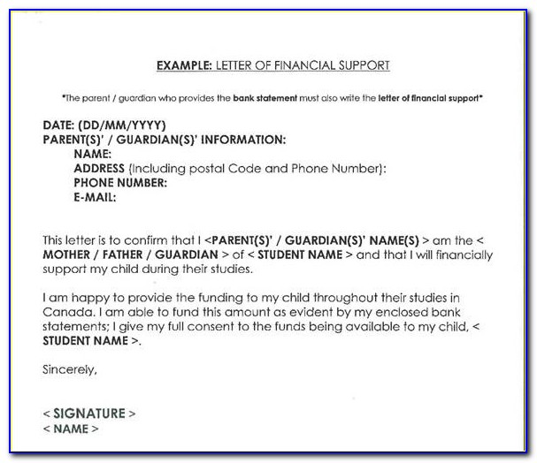 Sample Proof Of Funds Letter Template