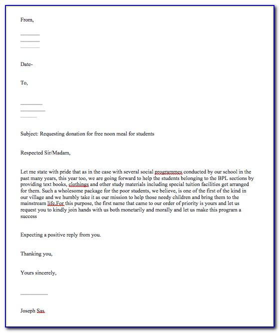 Sample Sponsorship Request Letter For Charity Event