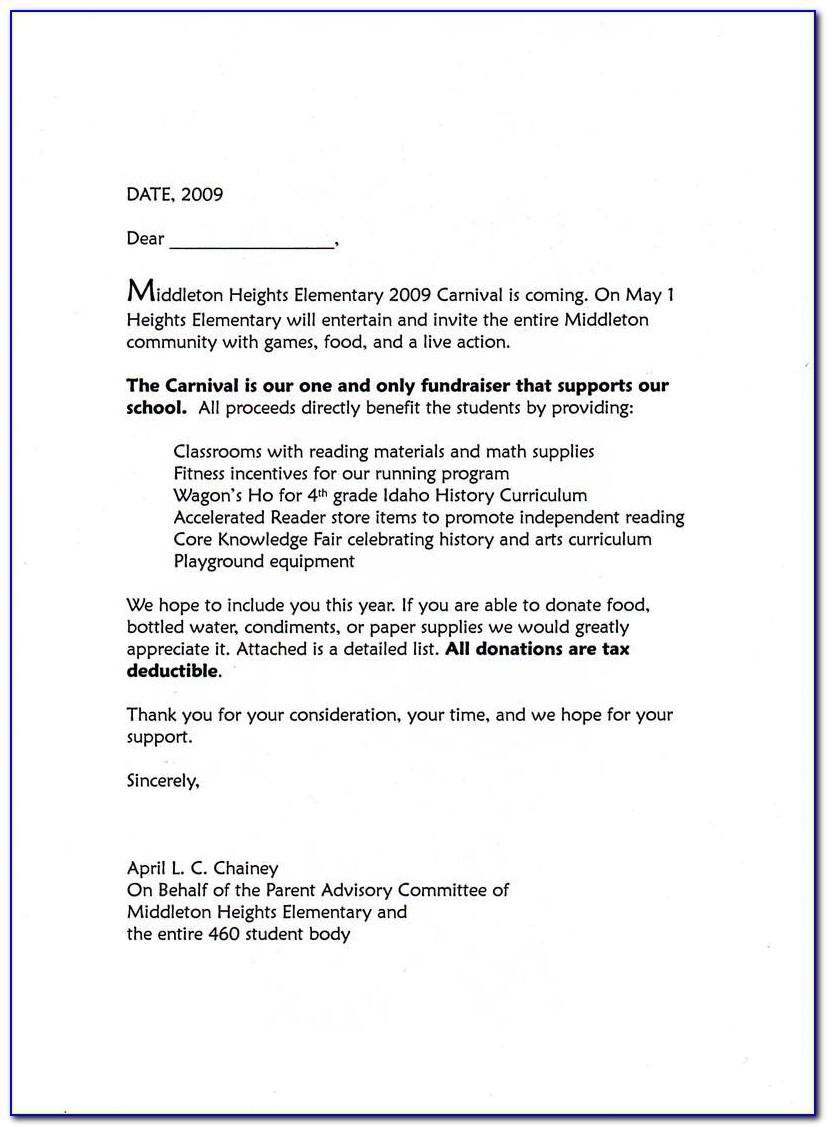 Sample Sponsorship Request Letter For Music Event