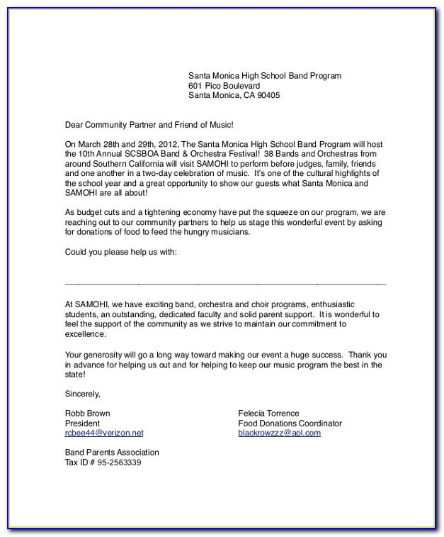 Sample Sponsorship Request Letter For Sports Event