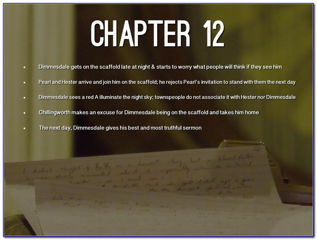 Scarlet Letter Chapter 13 Quizlet