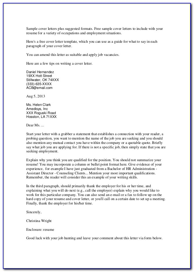 School Counseling Cover Letter Examples