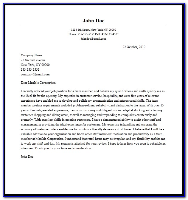 School Counseling Cover Letter Sample