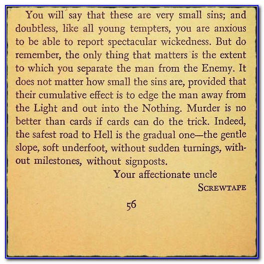 Screwtape Letters Quotes Distraction