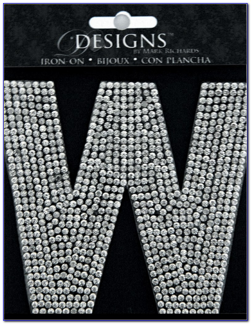 Sew On Rhinestone Letters