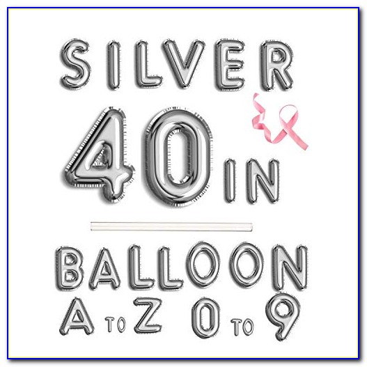 Silver Letter Balloons For Sale