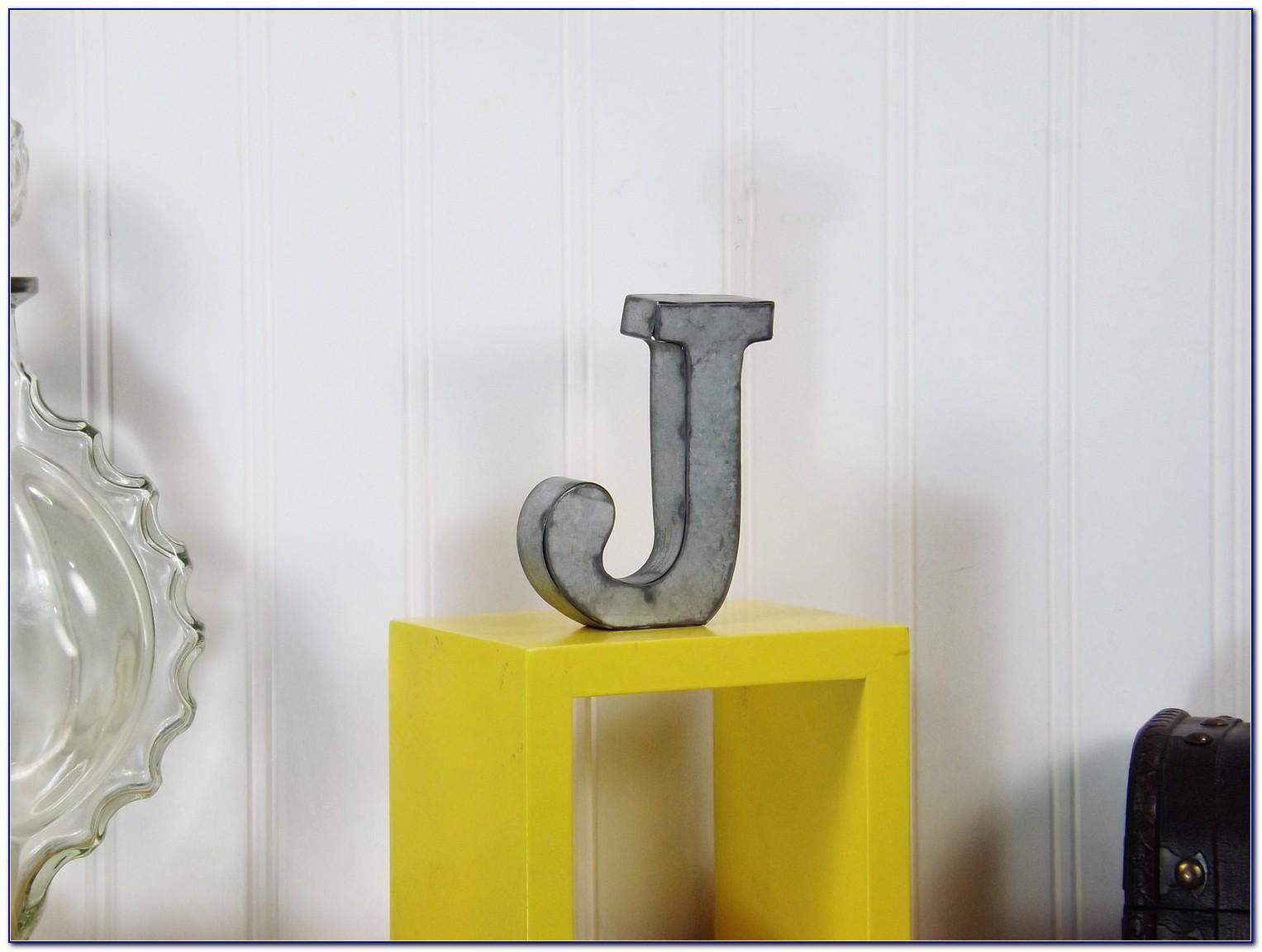 Silver Metal Decorative Letters