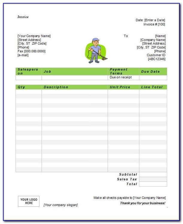 Simple Invoice Template Microsoft Word