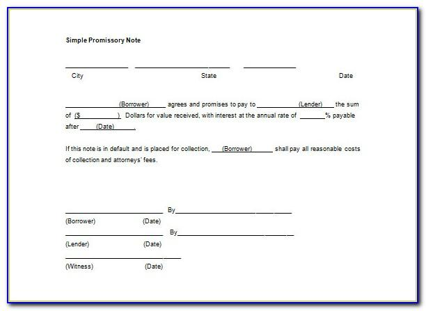 Simple Promissory Note Sample Letter For School Tuition Fee