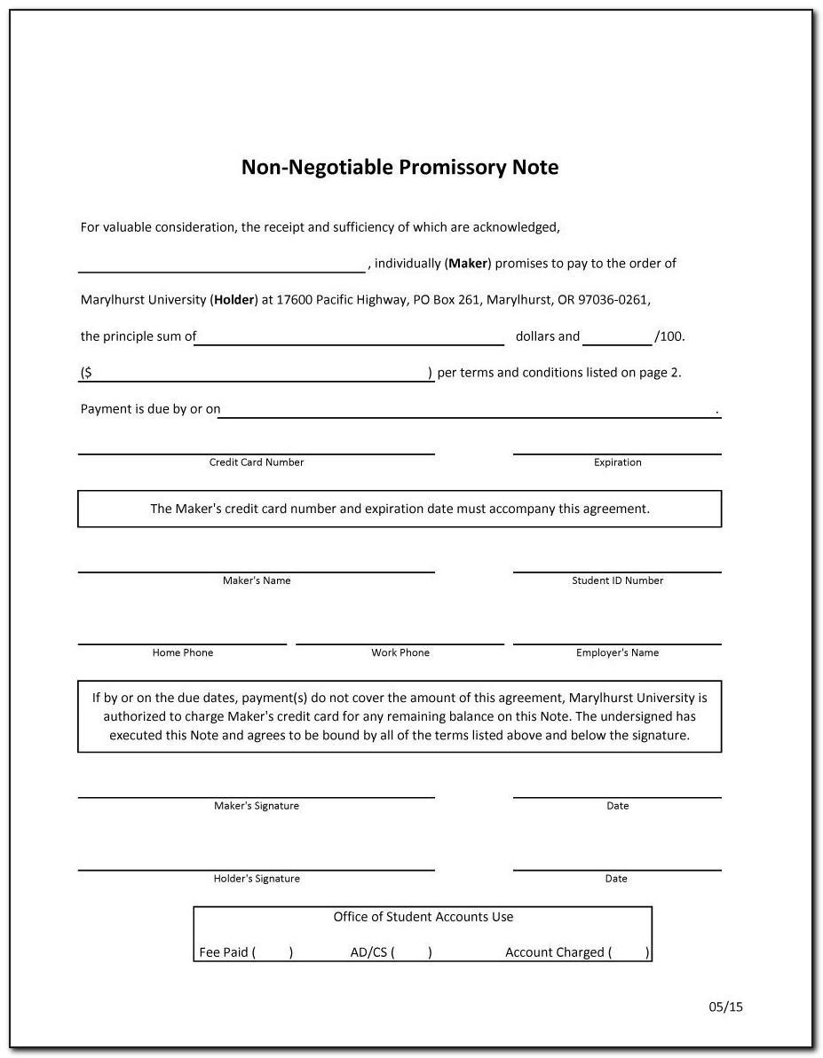 Simple Promissory Note Sample Letter Pdf