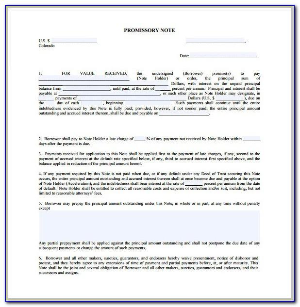 Simple Promissory Note Sample Letter Tuition Fee