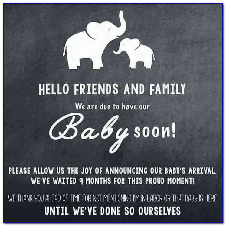 Social Media Pregnancy Announcement Sayings