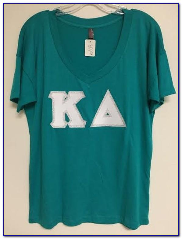 Sorority Block Letter Shirts