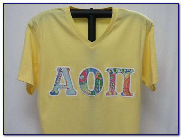 Sorority Letter Apparel