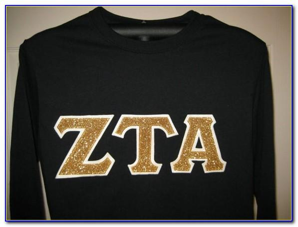 Sorority Stitched Letter Shirts