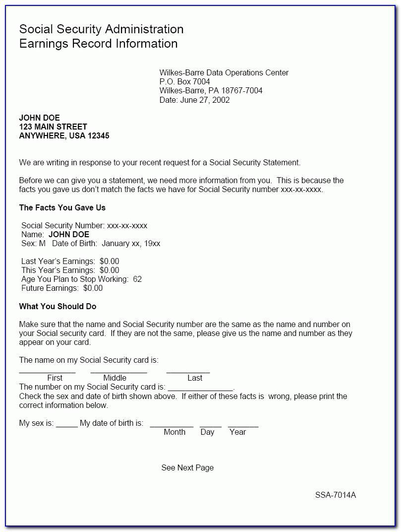Ssi Benefit Award Letter Online