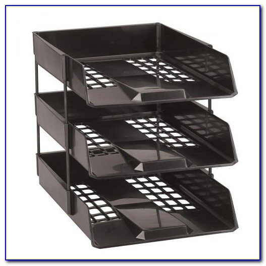 Stackable Letter Trays With Labels