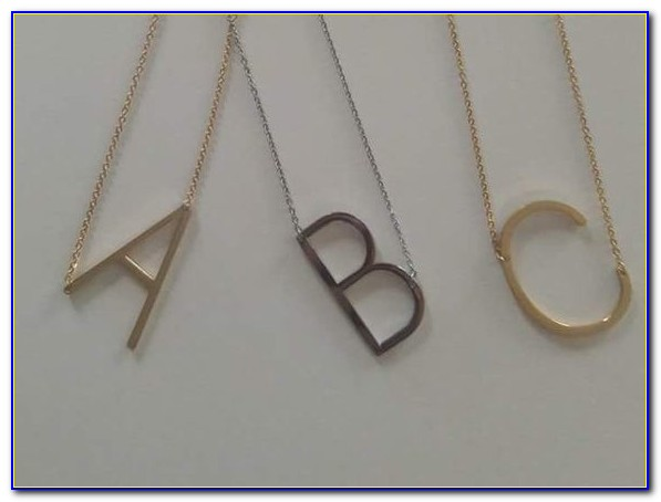 Sterling Silver Sideways Letter Necklace
