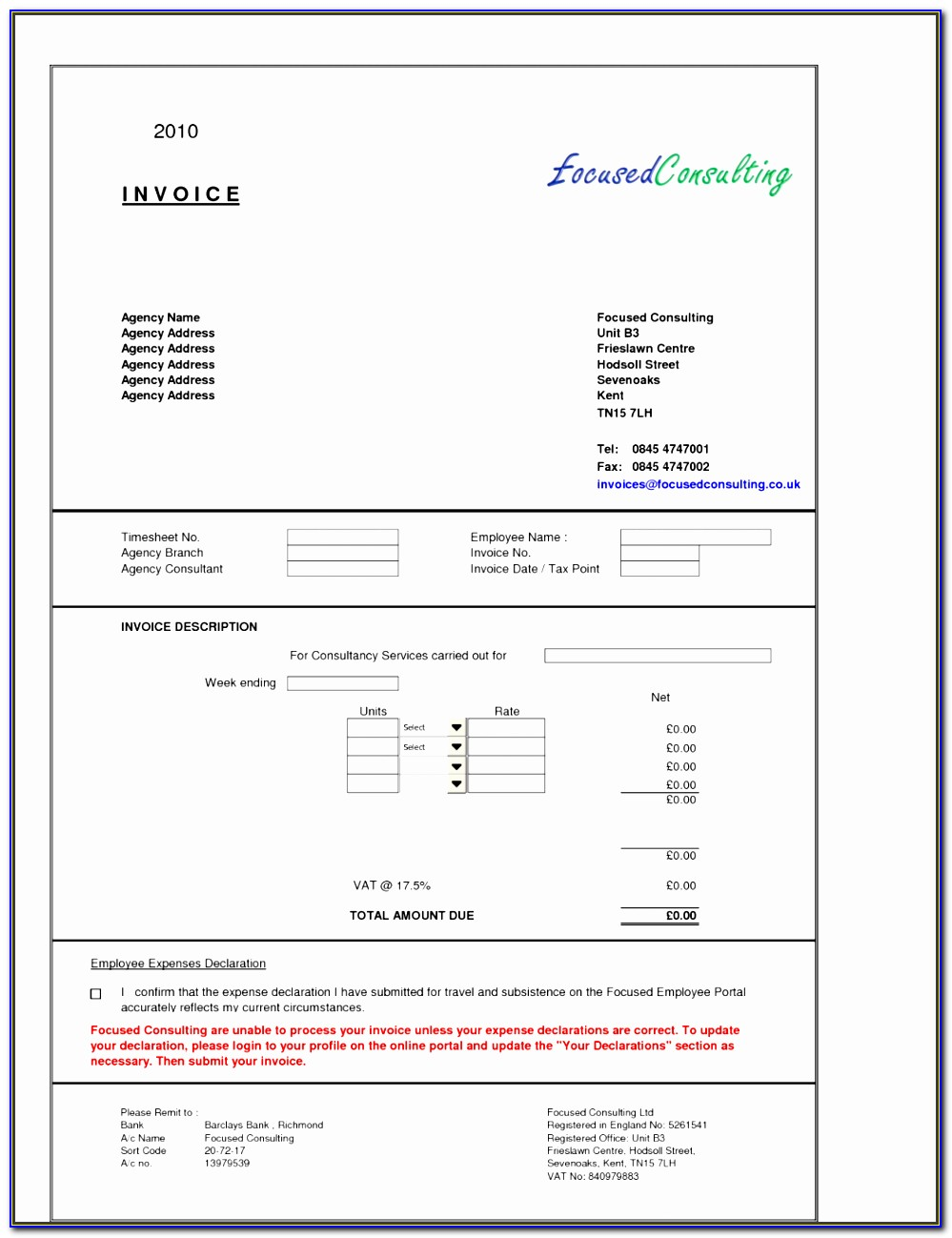 Transaction Coordinator Invoice Template