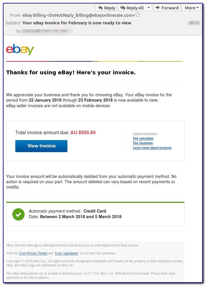 View Ebay Invoice On App